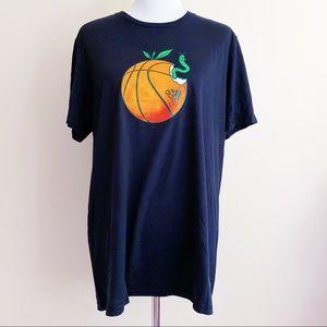 Adidas Basketball Apple Worm T-Shirt Shirt New